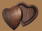 Walnut  Heart Jewelry Box
