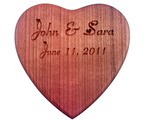 Engraved Heart Shaped Box